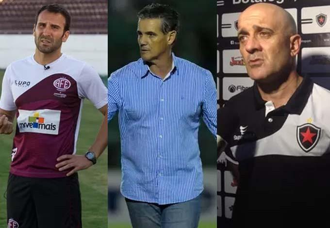 Treinadores que negociam com o Sampaio Corrêa (MA) (Foto: Montagem / GloboEsporte.com)