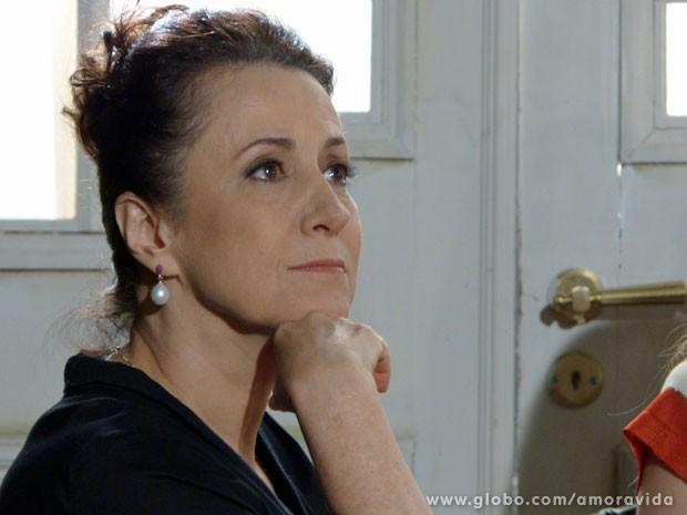 Lídia avisa que não vai mais ser emprwegada de Thales e Leila (Foto: Amor à Vida/TV Globo)