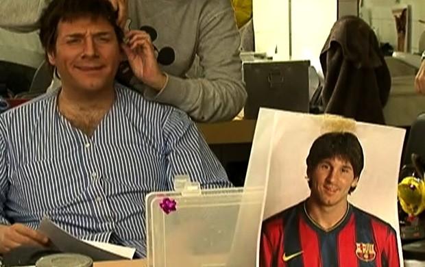 Messi Crackovia Tá na área barcelona (Foto: Reprodução SporTV)