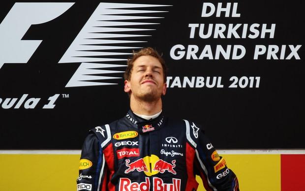 O alemão Sebastian Vettel foi o vencedor da última corrida, na temporada 2011 (Foto: Getty Images)