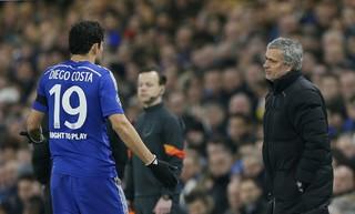 Mourinho e Diego Costa Chelsea x PSG (Foto: Reuters)