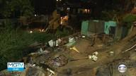 Casa desaba durante temporal em Belo Horizonte