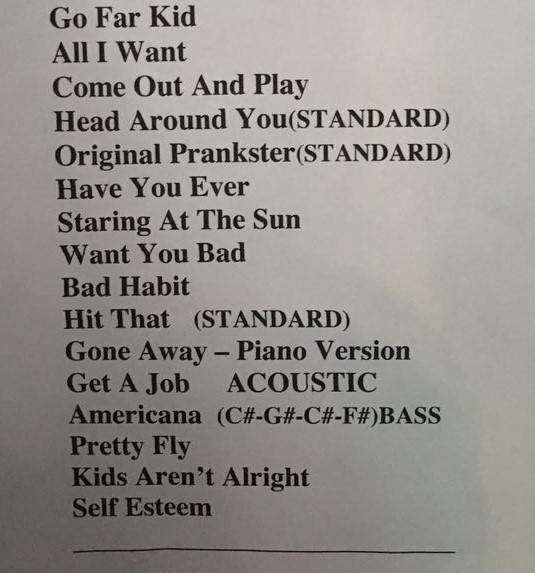 Offspring divulga setlist (Foto: Multishow)