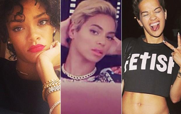 Beleza cabelos curtos - Rihanna, Beyoncé e Rita Ora  (Foto: Instagram/Reprodução)