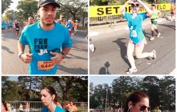 Pelotão azul do Prepare-se Já toma conta da Maratona de São Paulo
