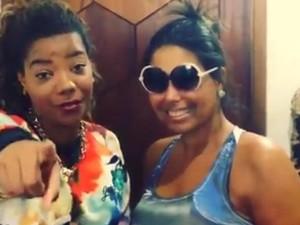 Ludmilla e a estilista Sonia Izidoro (Foto: reprodução/instagram)