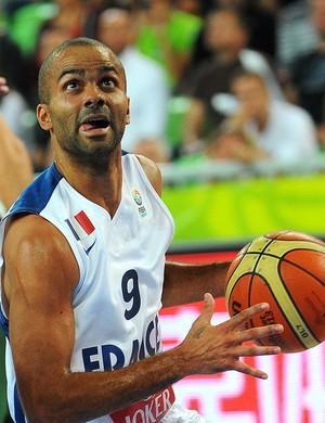 basquete final campeonato europeu tony Parker França e Lituânia (Foto: Agência AFP)