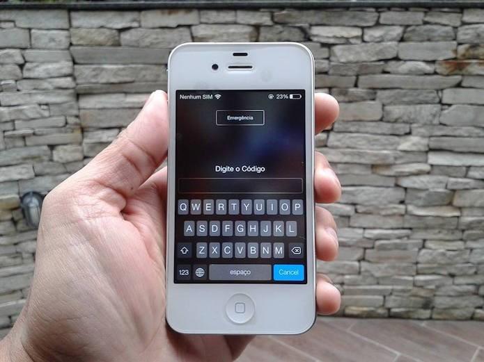 Como aumentar o número de caracteres do bloqueio por código do iOS? (Foto: Marvin Costa/TechTudo)