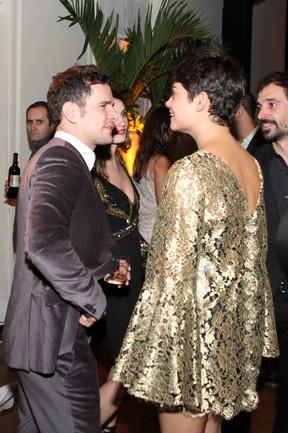 Daniel Oliveira e Sophie Charlotte em festa o Rio (Foto: Anderson Borde, Felipe Assumpção e Léo Marinho/Ag. News)