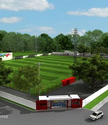 Projeto do Flamengo de Foz para receber a Coreia do Sul na Copa (Foto: Divulgação)
