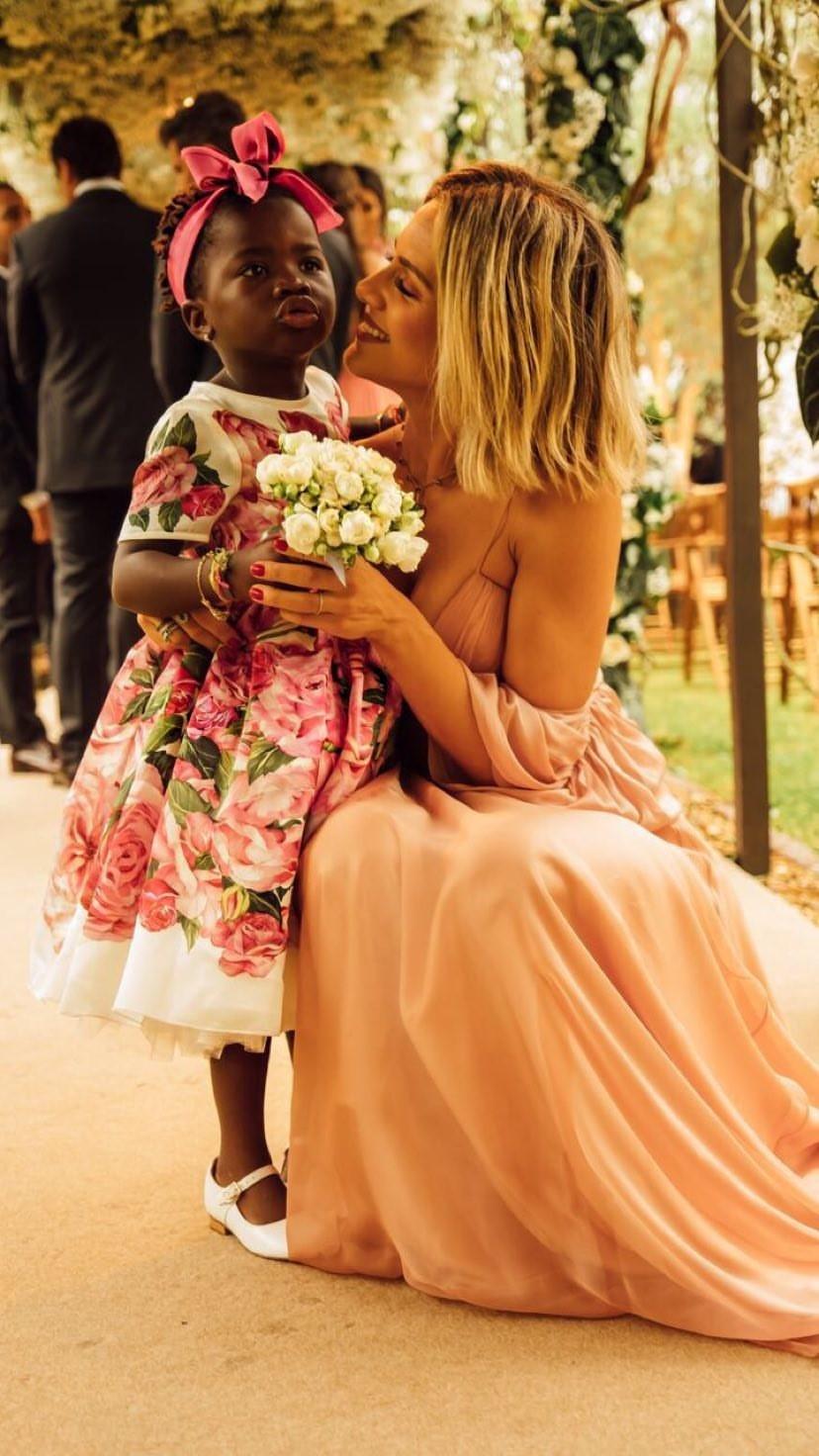 Giovanna Ewbank e Titi no casamento de Marina Ruy Barbosa (Foto: Reprodução/Instagram Stories)