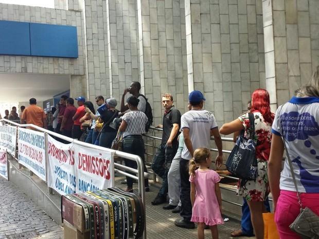 Greve bancários Uberlândia movimento nacional (Foto: Fernanda Resende)