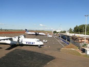 Aeroporto de Cascavel, no oeste do Paraná (Foto: Divulgação/ Prefeitura de Cascavel)