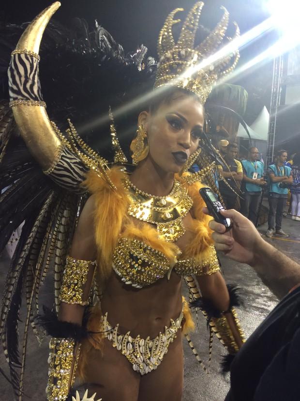 Ariellen Domiciano, rainha de bateria da nene (Foto: Ego)