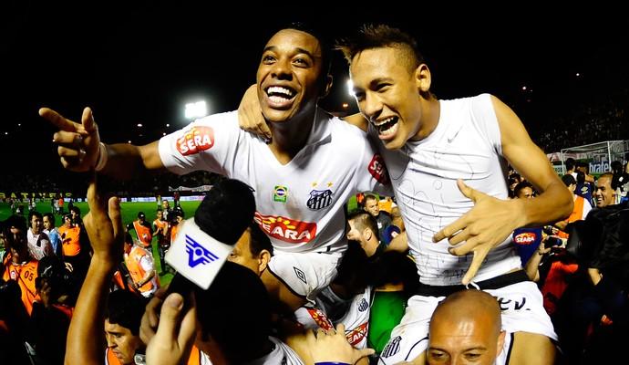 neymar Robinho 2010 (Foto: Marcos Ribolli / Globoesporte.com)