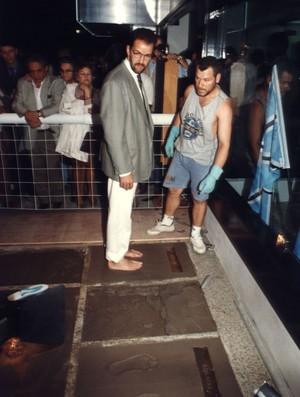 hugo de león grêmio adeus, olímpico calçada da fama (Foto: Arquivo Memorial Hermínio Bittencourt)