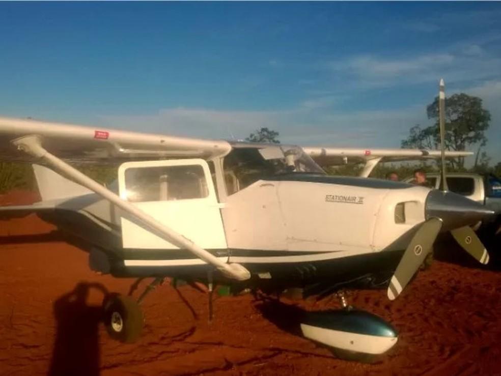 Grupo criminoso tinha avião particular para transportar a droga, de acordo com a PF (Foto: Divulgação/PRF)