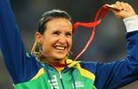 Tudo sobre Maurren Maggi, campeã olímpica do salto em distância. Clique! (Getty Images)