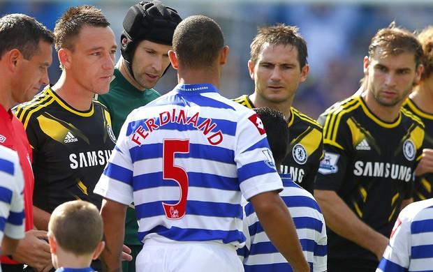 Terry e Ferdinand, Rangers x Chelsea (Foto: Agência Reuters)