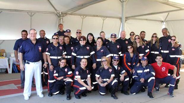 Equipe médica da 30ª Corrida Integração (Foto: Divulgação EPTV)