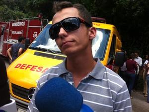 O instrutor de voo, Bruno Dinelli, que deu as aulas teóricas para Felipe, afirmou que o jovem estava terminando o curso para piloto. (Foto: Janaína Carvalho / G1)
