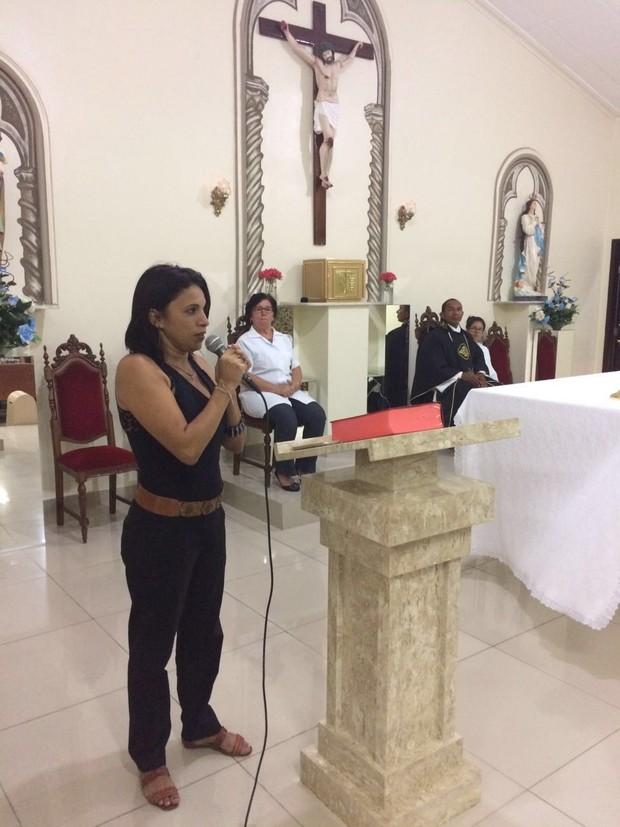 Missa em homenagem a um mês de morte de Domingos Montagner (Foto: Arquivo Pessoal)