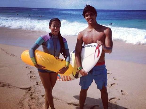 Gabriel Medina e a namorada, Tayná Hanada  (Foto: Instagram/ Reprodução)