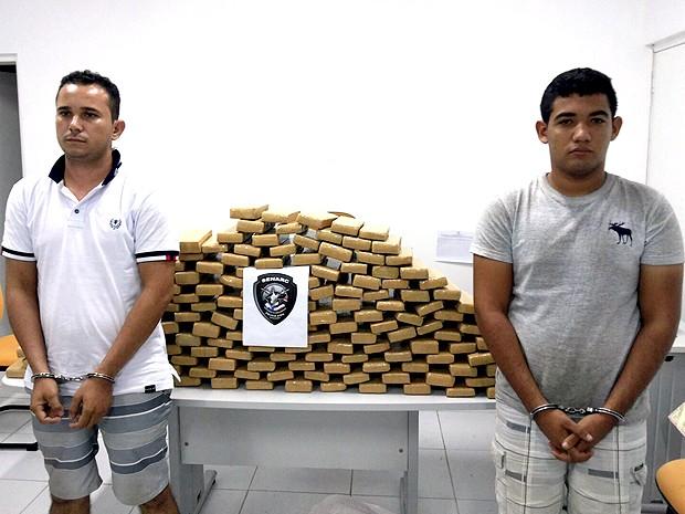 Em Codó (MA), duas pessoas foram presas por suspeita de tráfico (Foto: Divulgação/Polícia Civil)