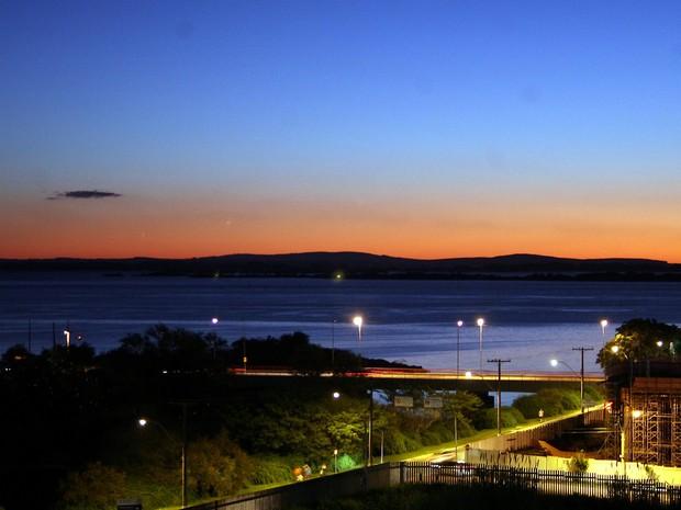 Pôr do sol de Porto Alegre é considerado um dos mais bonitos do Brasil (Foto: Ivo Gonçalves/PMPA)