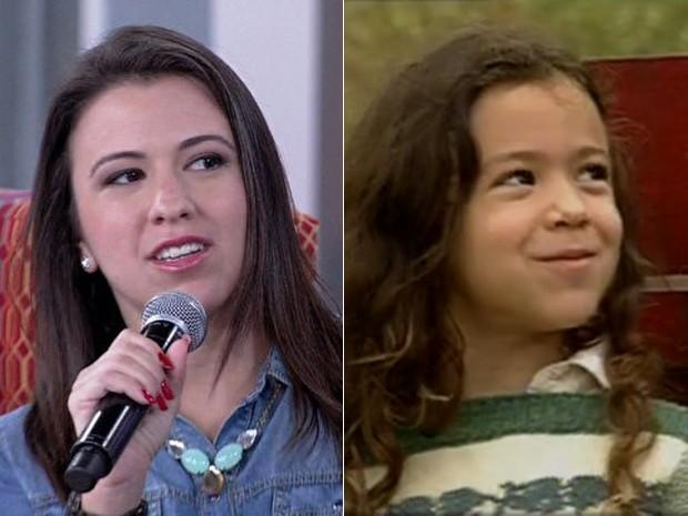 Carolina Pavanelli cresceu e trocou a profissão de atriz pelo magistério (Foto: Encontro com Fátima Bernardes/TV Globo)