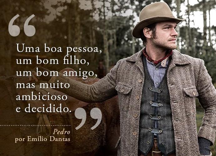 Pedro (Emílio Dantas) (Foto: Gshow)