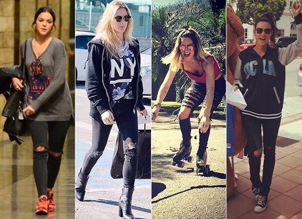 Bruna Marquezine, Fiorella Matheis, Giovanna Ewbank e Thaila Ayala (Foto: J.Humberto / AgNews - Instagram / Reprodução)