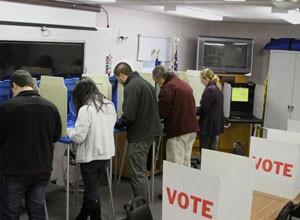 Local de votação em Chapel Hill, Carolina do Norte (Foto: Beatriz Rey/G1)