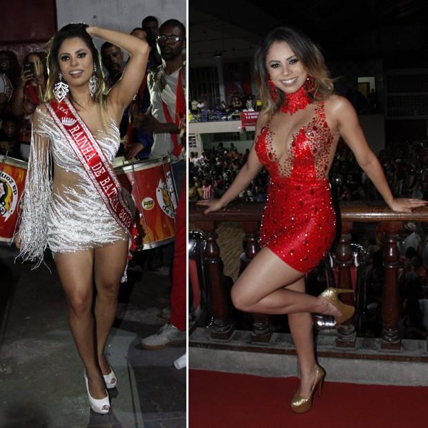 Lexa: dois modelitos diferentes para a noite da coroação (Foto: Marcos Ferreira / Brazil News)