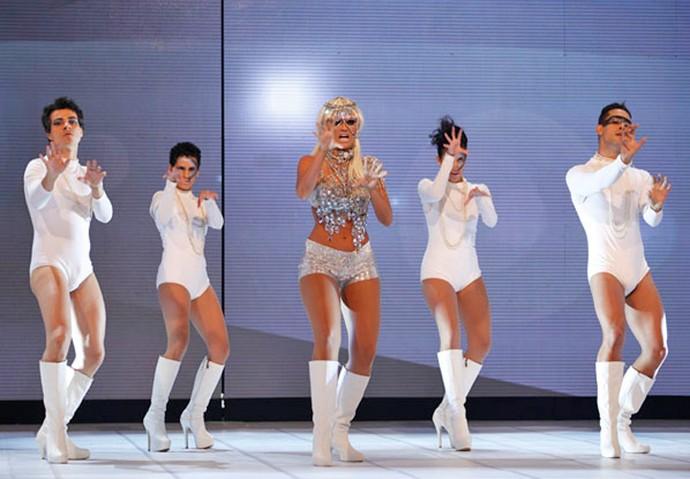 Ellen Rocche dançou 'Bad Romance' no programa (Foto: Gshow)