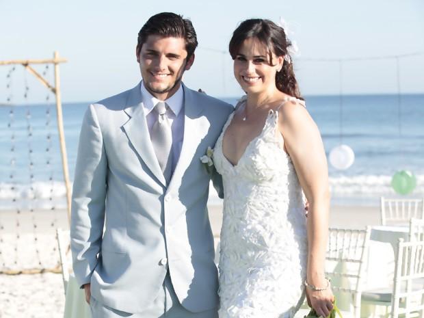 Os noivos Juliano e Natália (Foto: Vila dos Ventos / TV Globo)