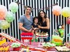 Márcio Garcia e Andréa Santa Rosa comemoram aniversário do filho