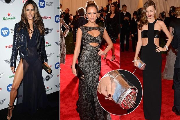 MODA - Clutch Louboutin - Alessandra Ambrósio, Jessica Alba, Miranda Kerr (Foto: Getty Images)