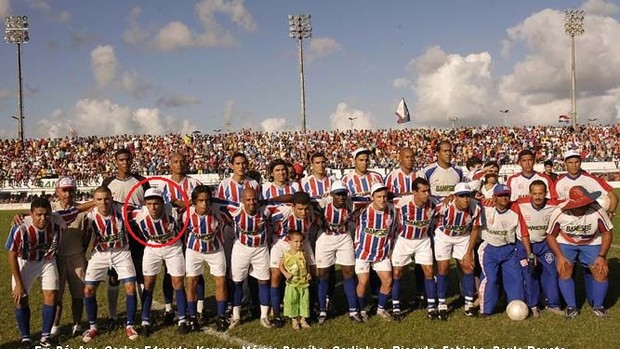 Matheus, no time do Itabaiana, campeão sergipano em 2005 (Foto: Reprodução / FSF)