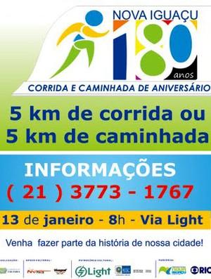 banner corrida nova iguaçu (Foto: Divulgação)