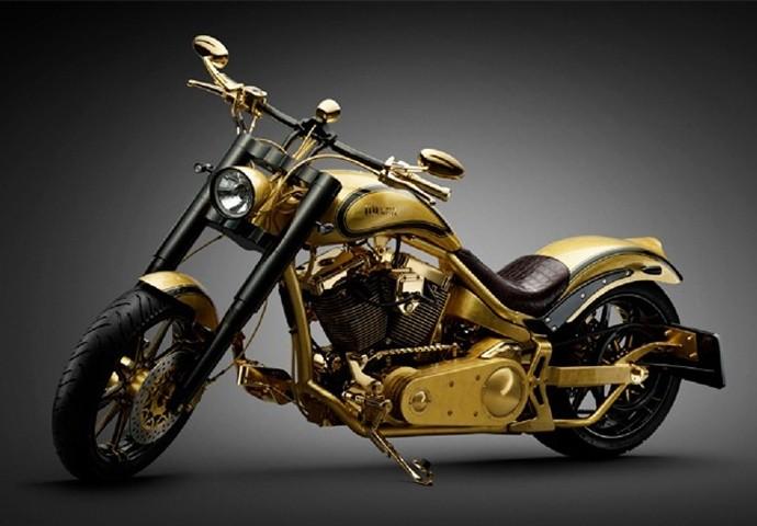 Moto ouro customização