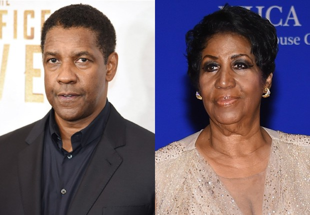 O Denzel Washington e Aretha Franklin originais (Foto: Getty Images)