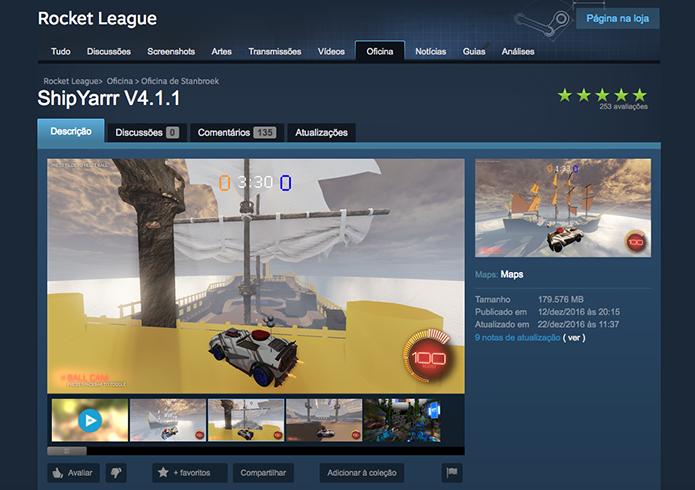 Confira vídeos e imagens do mapa de Rocket League (Foto: Reprodução/Murilo Molina)