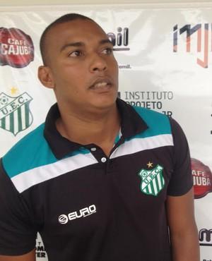 Thiago Lima, fisioterapeuta, Uberlândia Esporte (Foto: Gullit Castro)