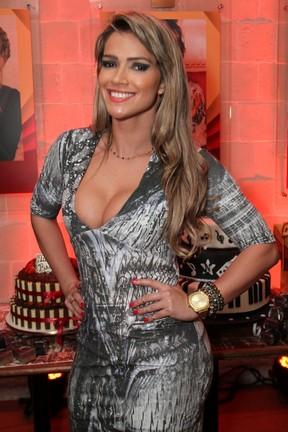 Fani Pacheco na festa de aniversário do cantor Naldo, no Rio (Foto: Anderson Borde/AG News)