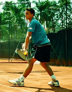 Gustavo Cruz tenista prudentino (Foto: Marcel Sachetti / Cedida)