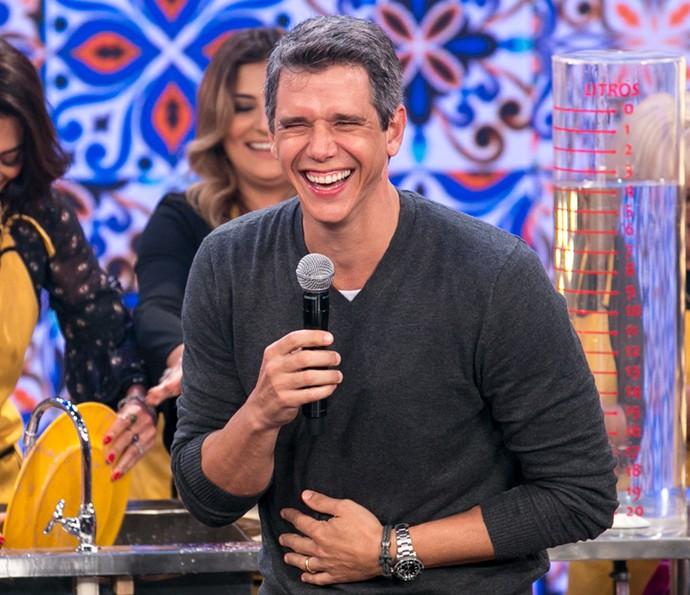 Marcio Garcia cai na risada durante o primeiro 'Tamanho Família' (Foto: Isabella Pinheiro / Gshow)