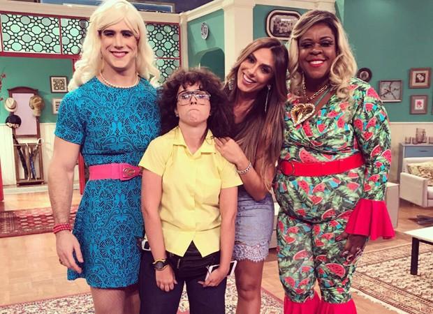 Emiliano D'Ávila, Tatá Werneck, Nicole Bahls e Cacau Protásio (Foto: Multishow)