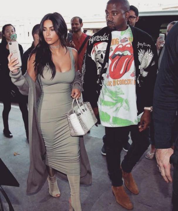 Kim Kardashian e Kanye West (Foto: Reprodução Instagram)