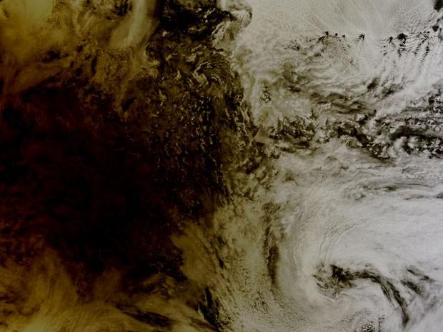 Eclipse de 20 de maio visto sobre o Oceano Pacífico (Foto: Nasa)